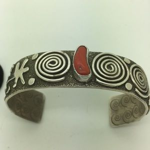 Other - Native Sterling Alex Sanches Red Coral Bracelet